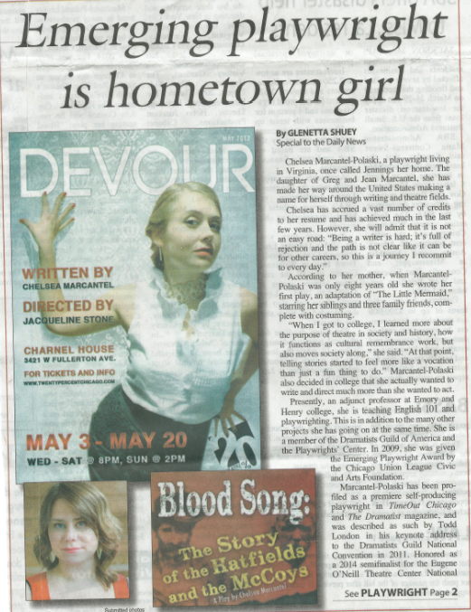 Emerging Playwright is Hometown Girl | The Jennings Daily News